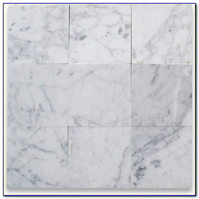 Carrara Marble Floor Tile Honed