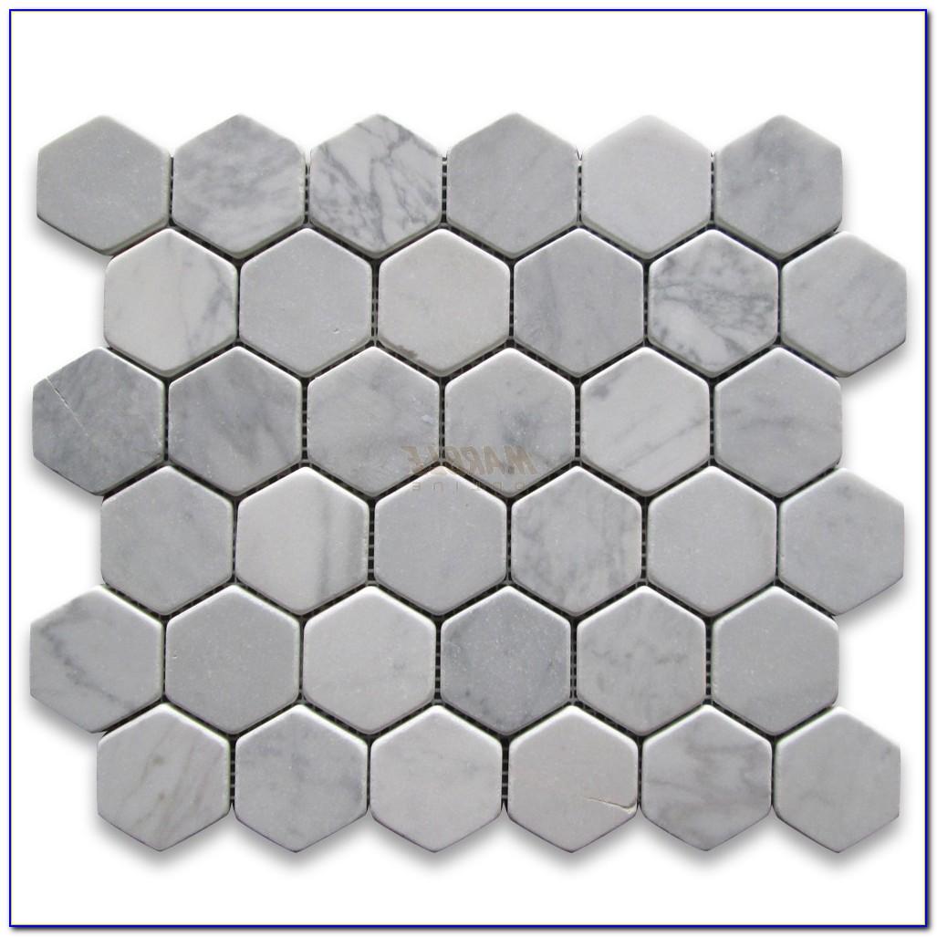 Carrara Marble Hexagon Tiles 110mm