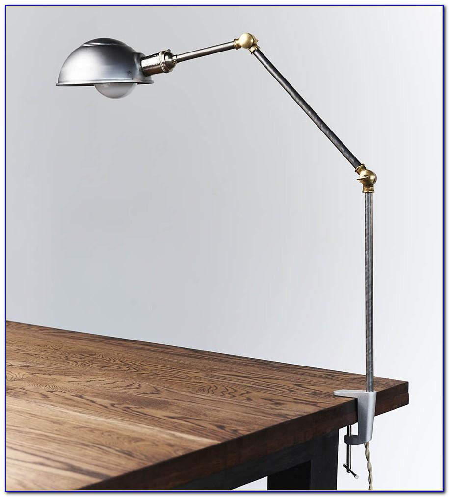 Clamp On Desk Lamp Vintage
