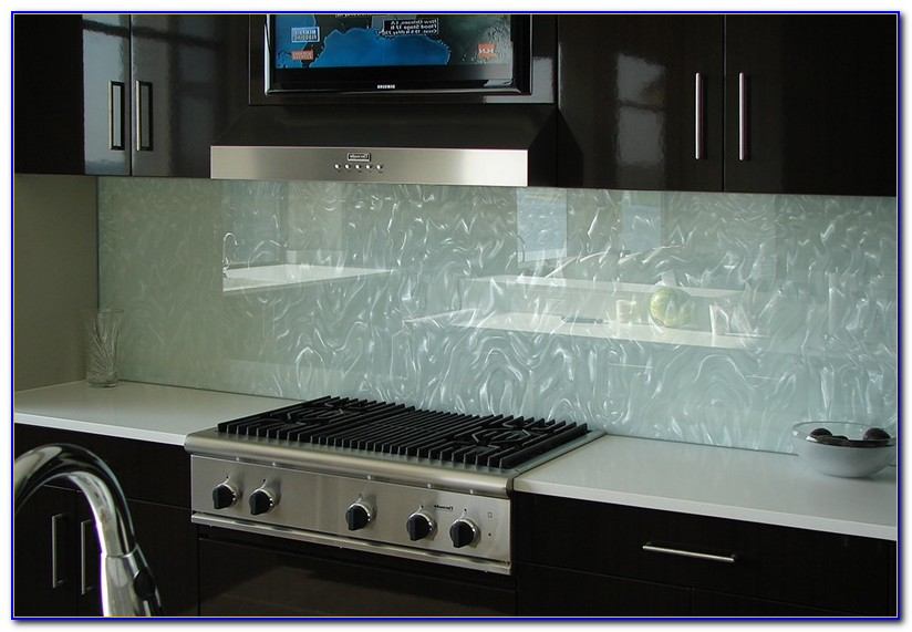 Clear Glass Subway Tile Backsplash