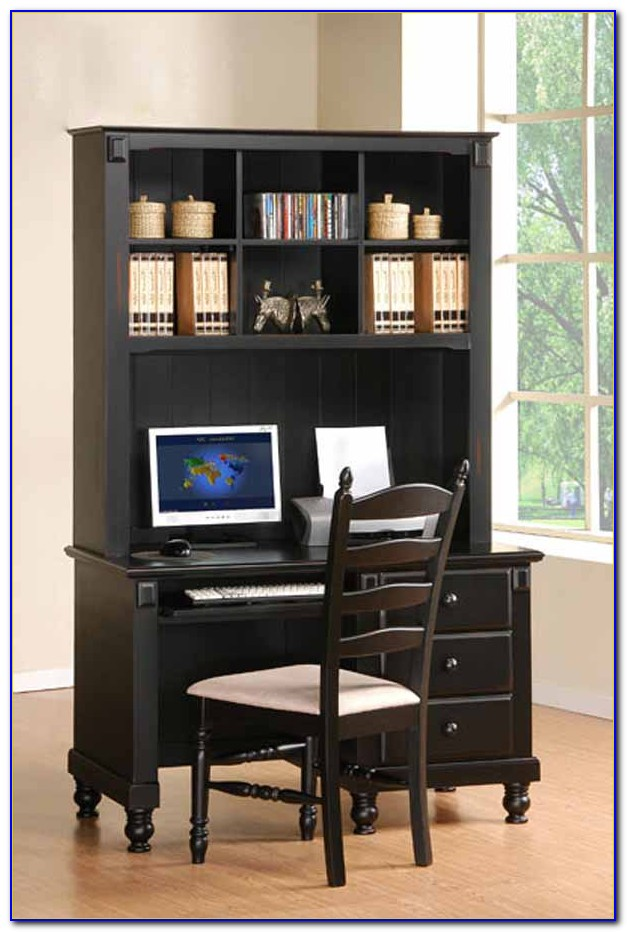 Computer Desk And Hutch Black