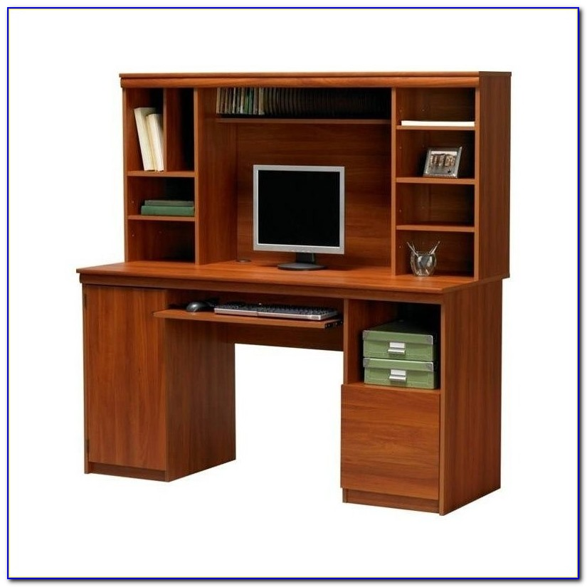 Computer Desk And Hutch Cherry