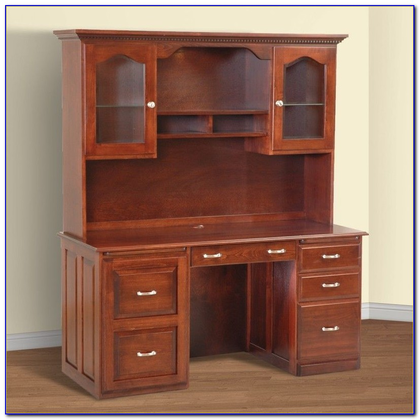 Computer Desk With Hutch And File Cabinet