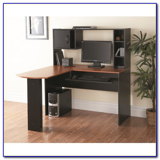 Computer Desk With Hutch Black