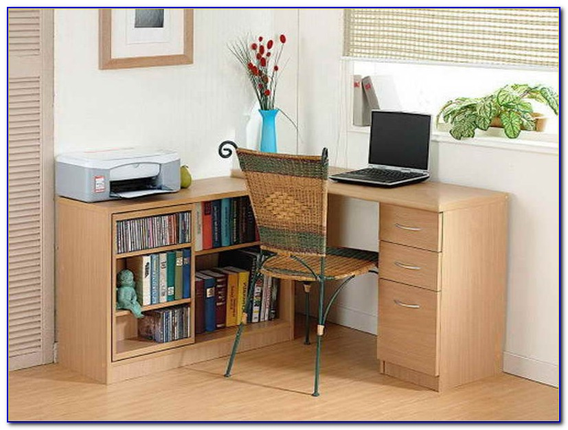Computer Desk With Shelves And Drawers