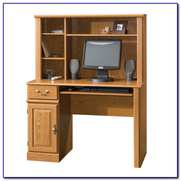 Computer Workstation Desk And Hutch