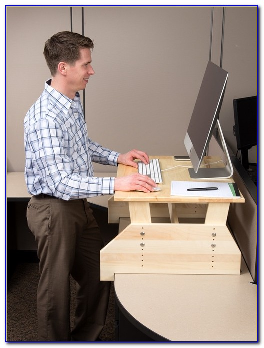 Convert Desk Into Standing Workstation