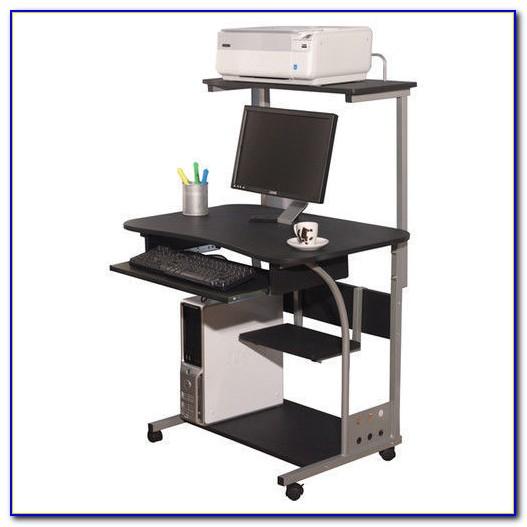 Corner Desk With Printer Shelf