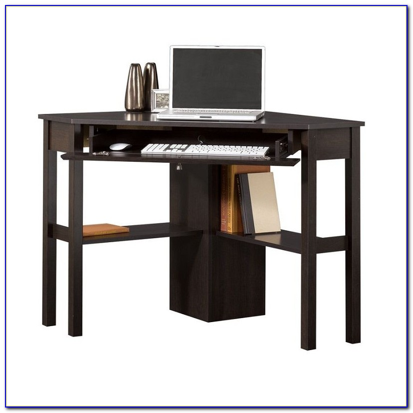 Corner Desk With Pullout Keyboard Tray