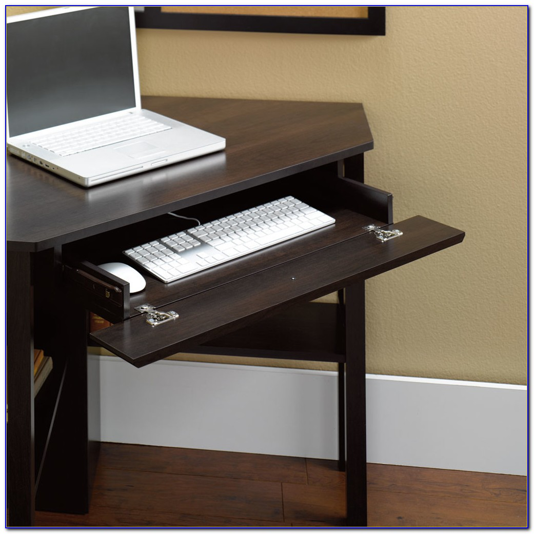 Corner Office Desk With Keyboard Tray