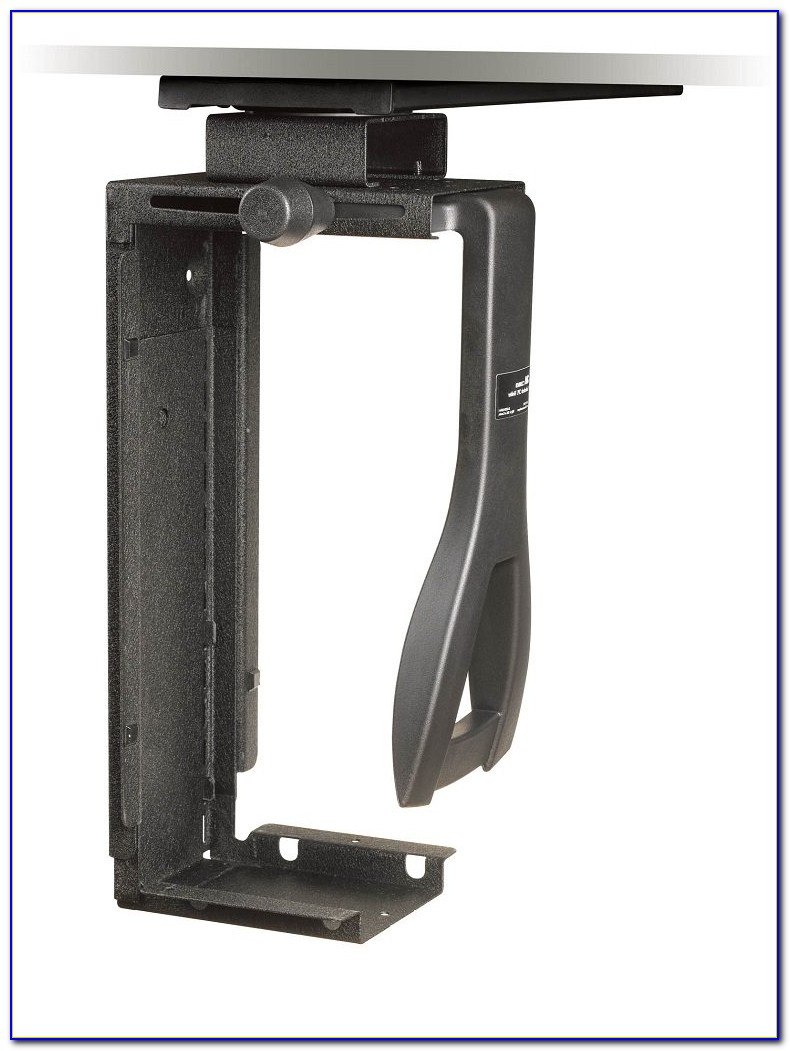 Cpu Holder Under Desk Mount Horizontal