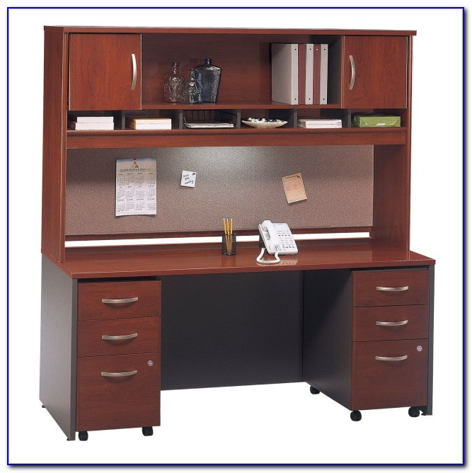 Desk With Hutch And File Drawers