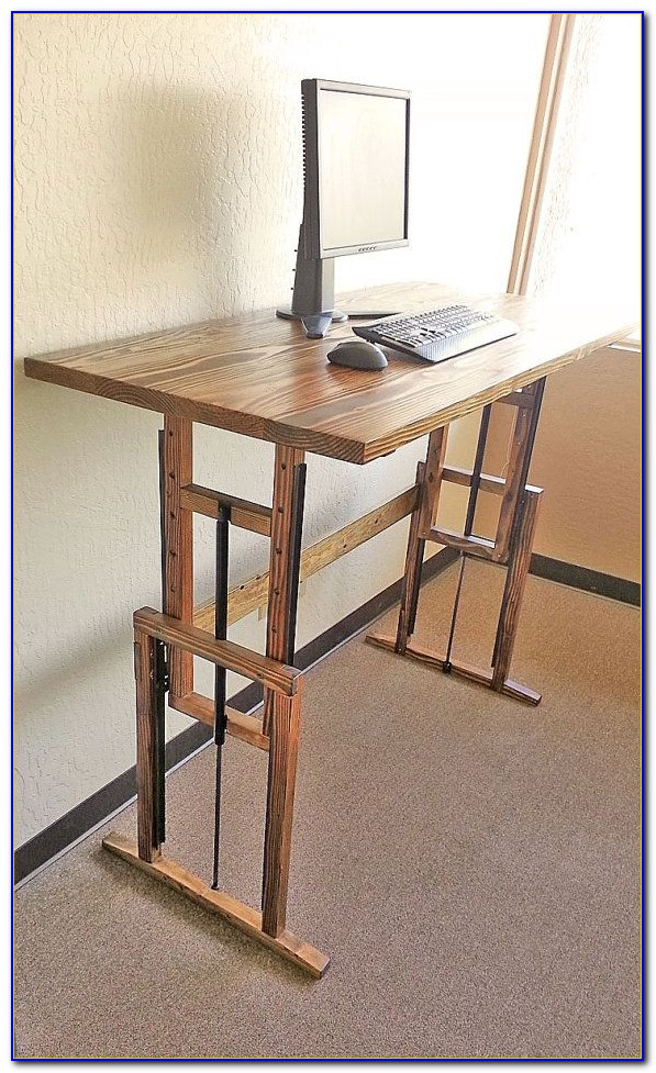 Diy Adjustable Height Computer Desk