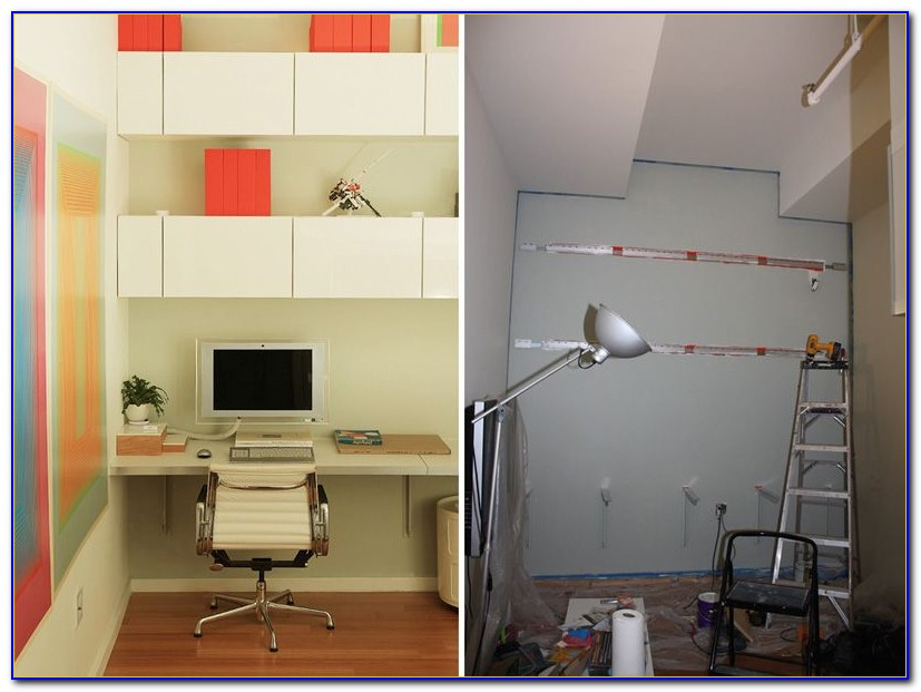Diy Built In Desk Ikea