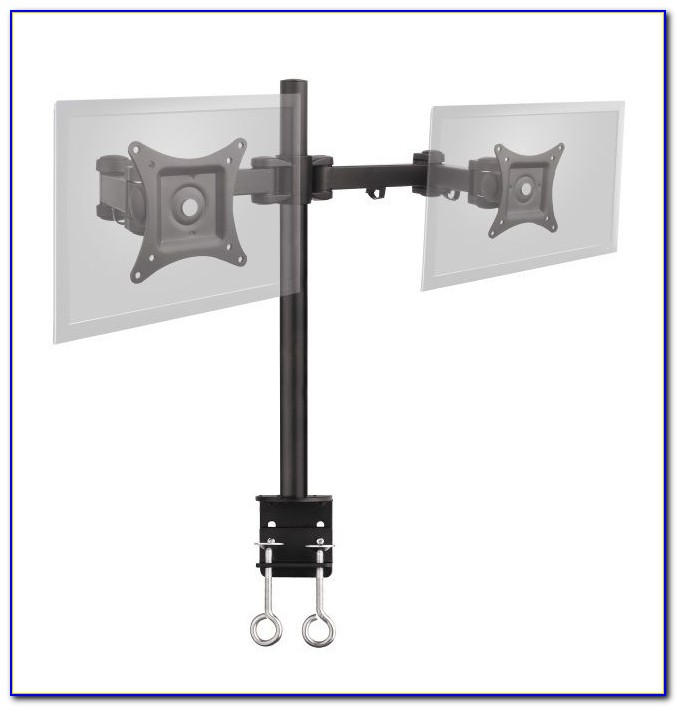 Dual Monitor Mount Stand Arm Desk Clamp