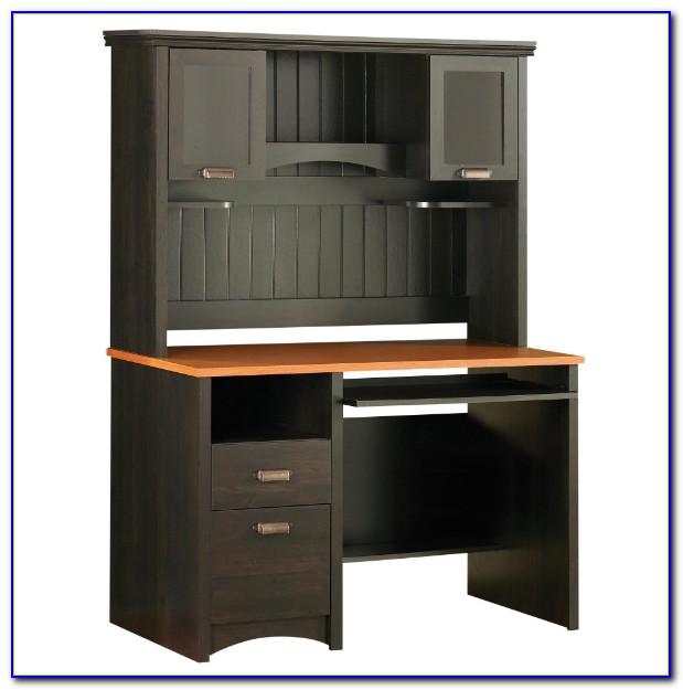 Estate Black Computer Desk With Hutch Jda109