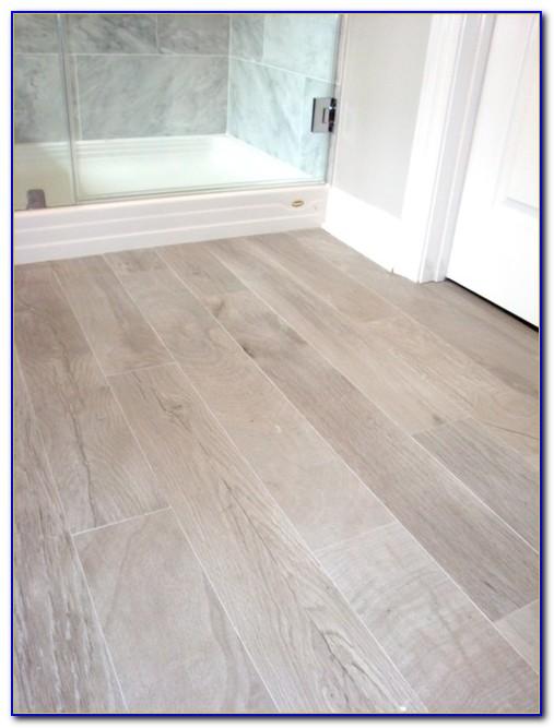 Faux Wood Porcelain Tile Bathroom