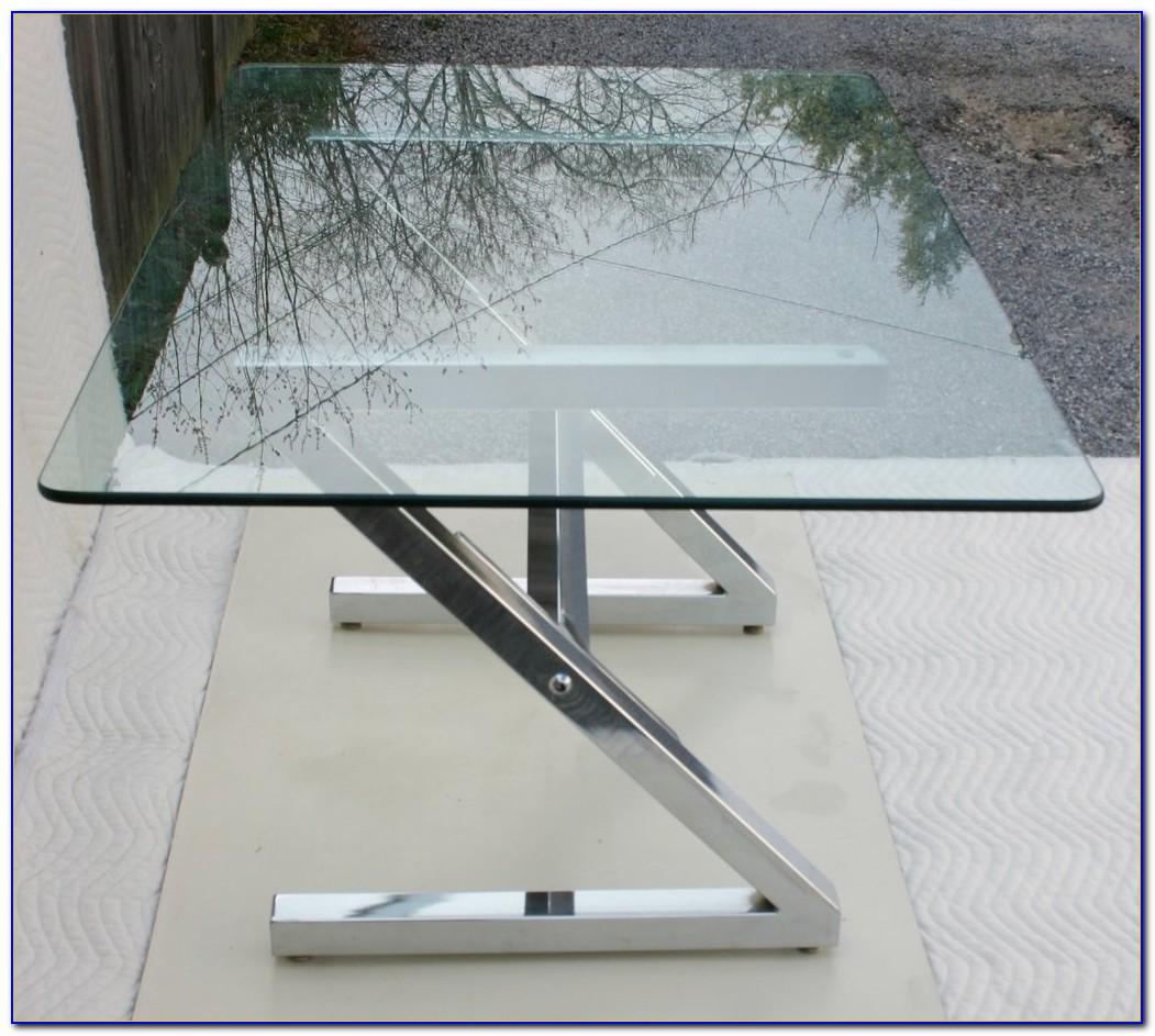 Glass And Chrome Computer Desk