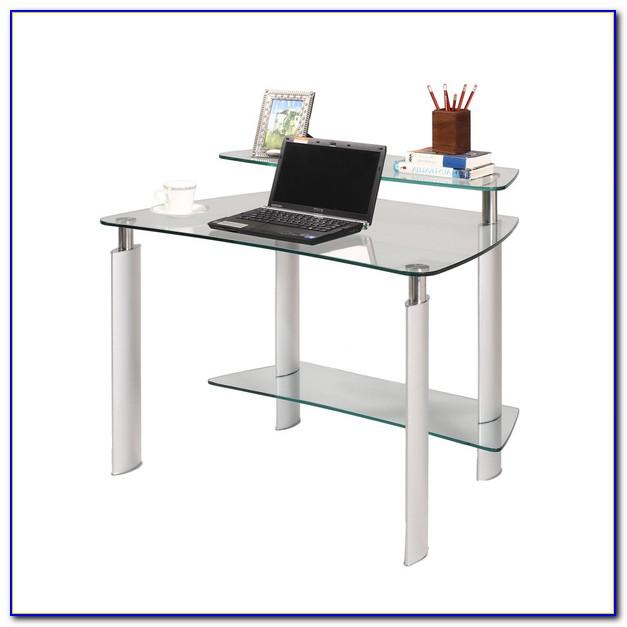 Glass And Chrome Corner Desk