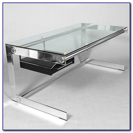 Glass And Chrome Desks For Home Office