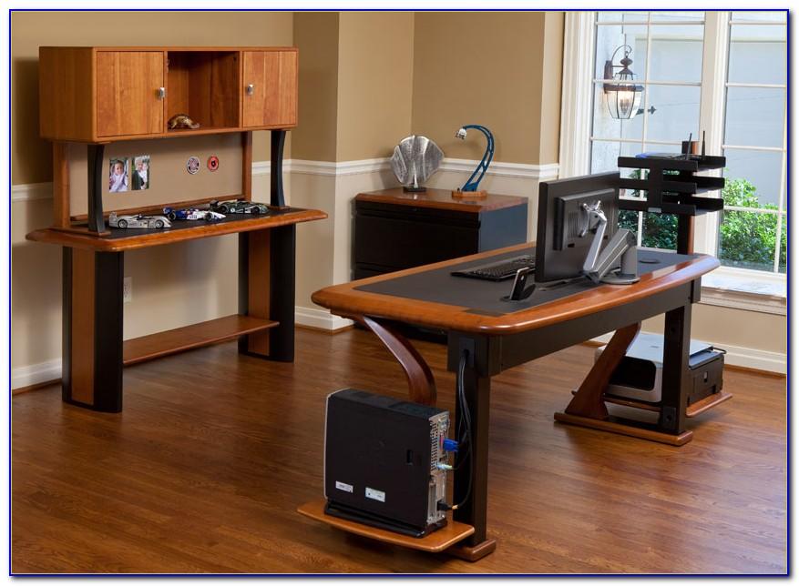 Hide Cords Glass Desk