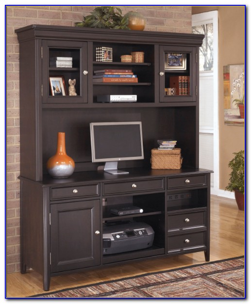 Home Office L Desk With Hutch