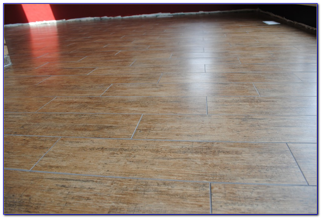 How To Install Ceramic Tile That Looks Like Wood Planks