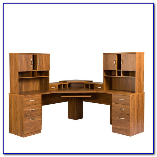 L Shaped Corner Desk With Drawers