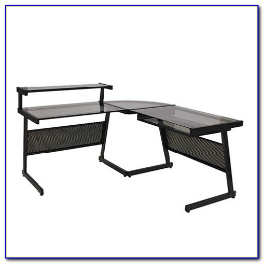 L Shaped Desk With Corner Keyboard Tray