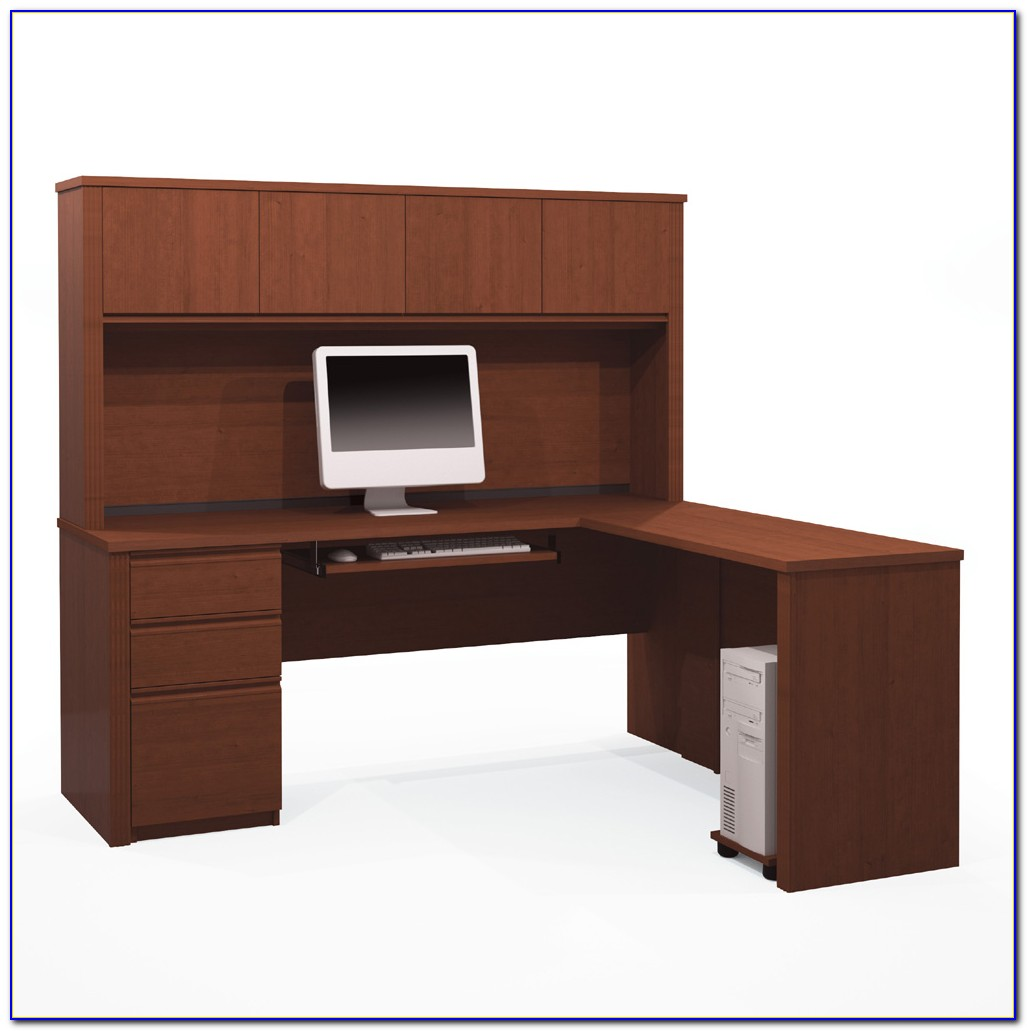 L Shaped Desk With Hutch By Bush Furniture