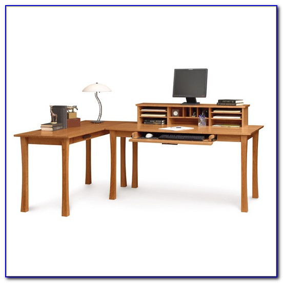 L Shaped Desk With Large Keyboard Tray