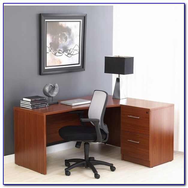 L Shaped Office Desk With Filing Cabinet