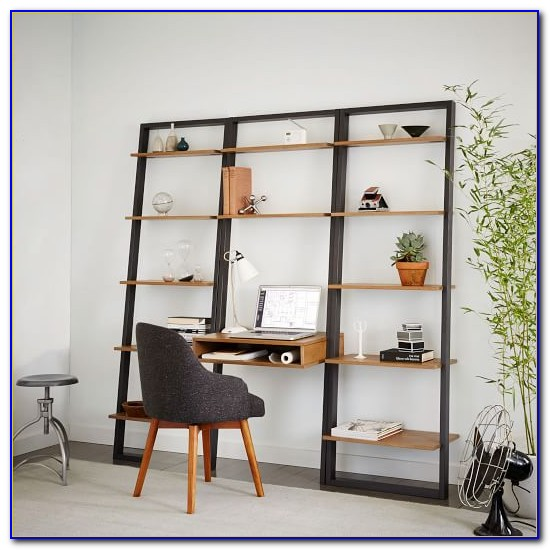 Ladder Desk With Storage
