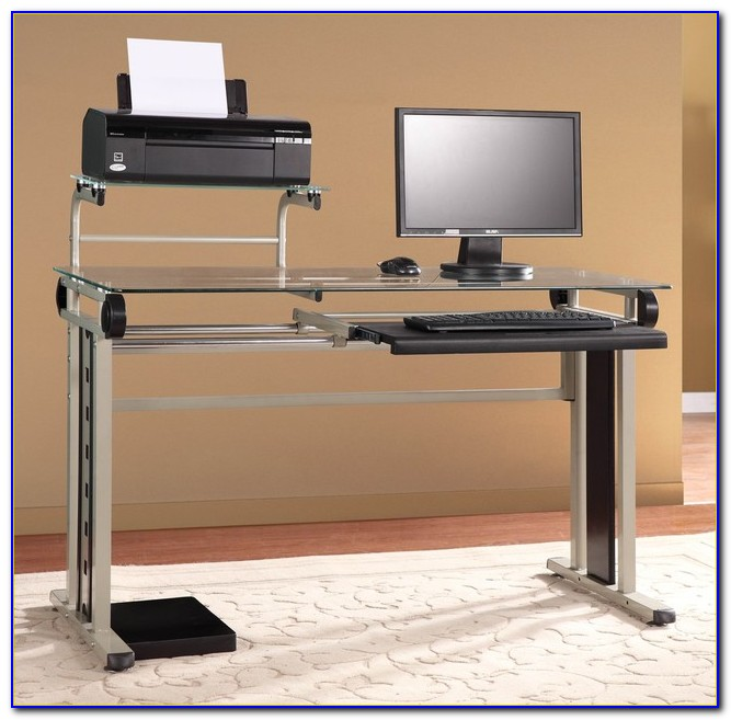 Laptop Desk With Printer Shelf