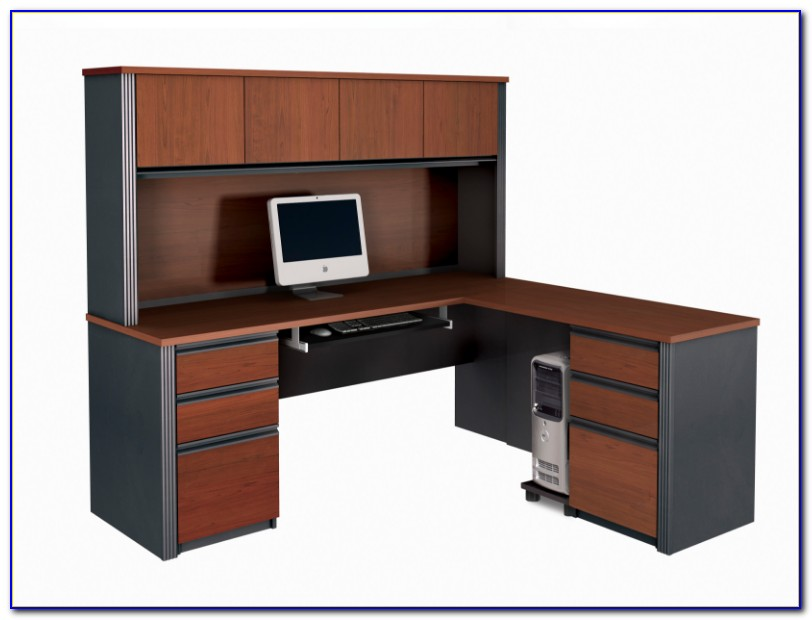 Large L Shaped Office Desk With Hutch