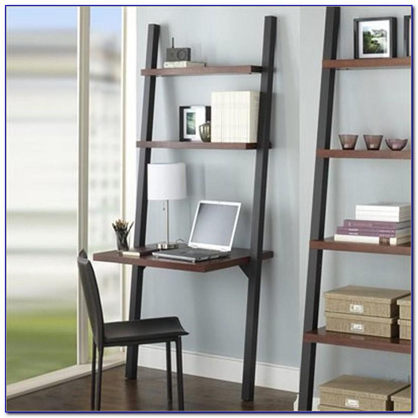 Leaning Desk With Bookshelves