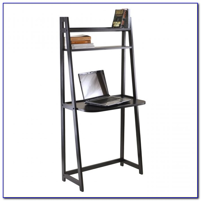 Leaning Desk With Shelf