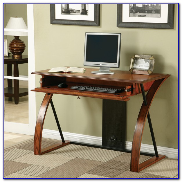 Linon Anna Laptop Writing Desk With Keyboard Tray