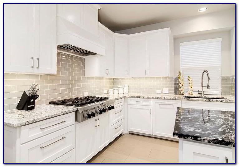 Modern White Glass Backsplash Tile