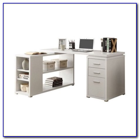 Monarch L Shaped Desk White