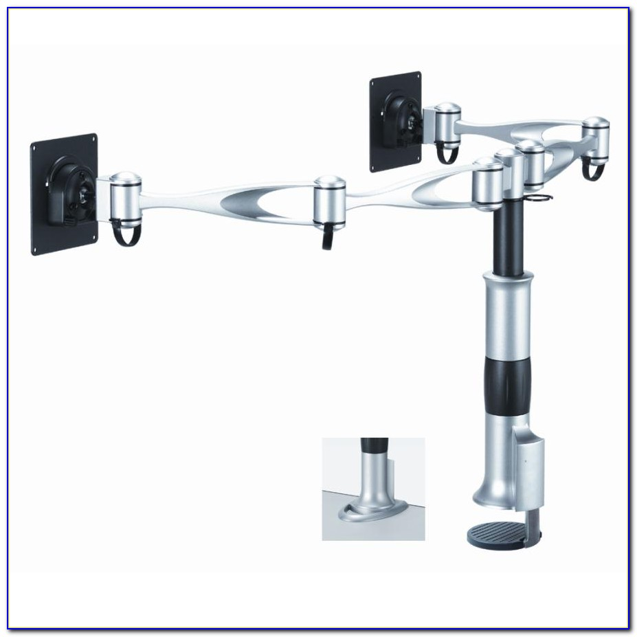 Monitor Arms Glass Desk