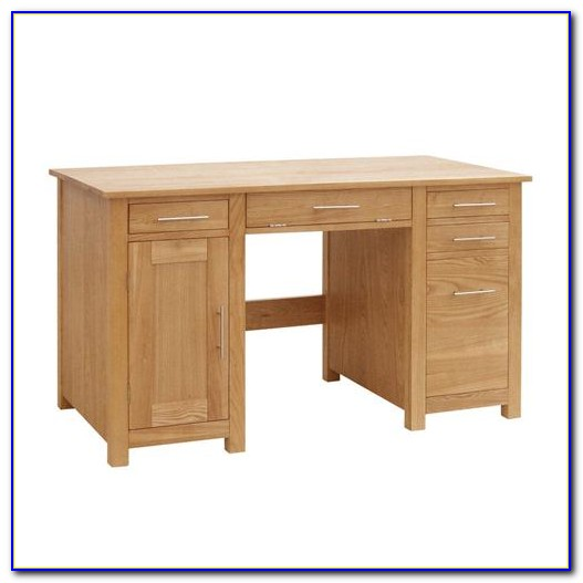 Oak Desk With Filing Drawer