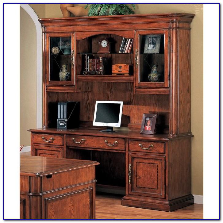 Oak Desk With Hutch
