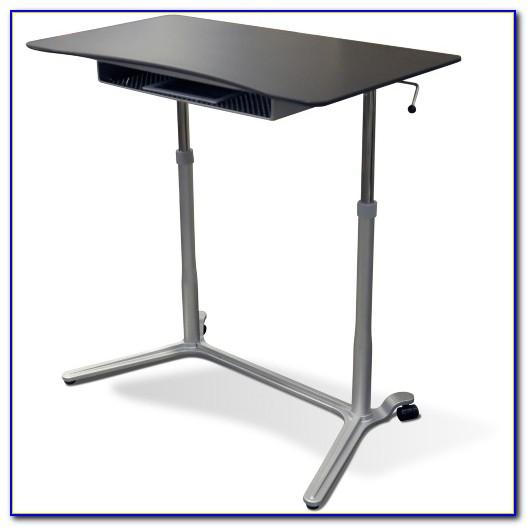 Pneumatic Sit Stand Adjustable Computer Desk
