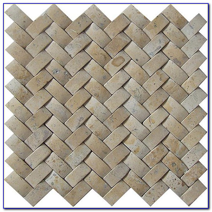 Porcelain Basketweave Tile