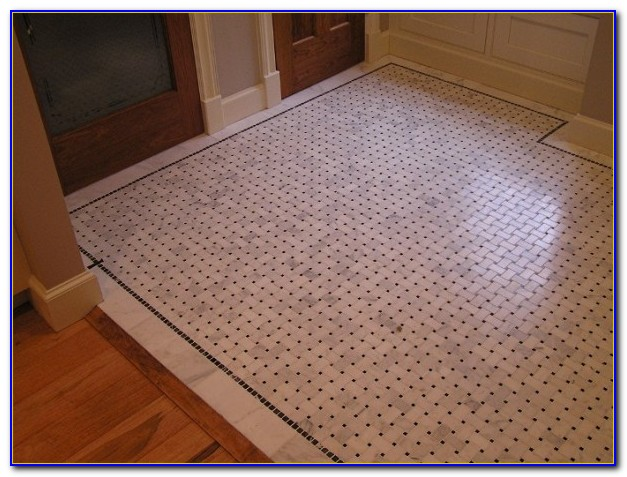 Porcelain Tile In Basket Weave Pattern
