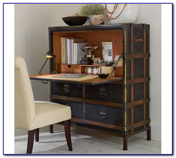 Pottery Barn Secretary Desk Hutch