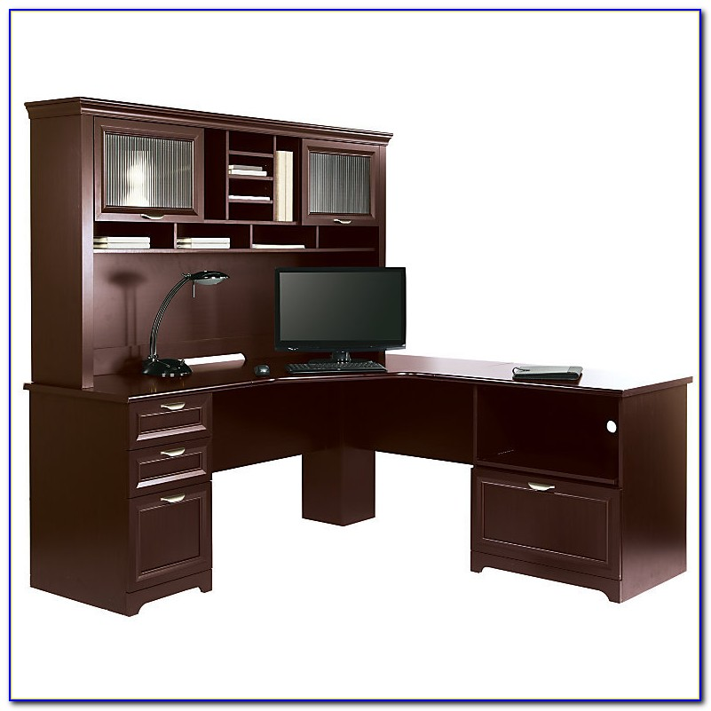Realspace Magellan L Shaped Desk And Hutch Bundle