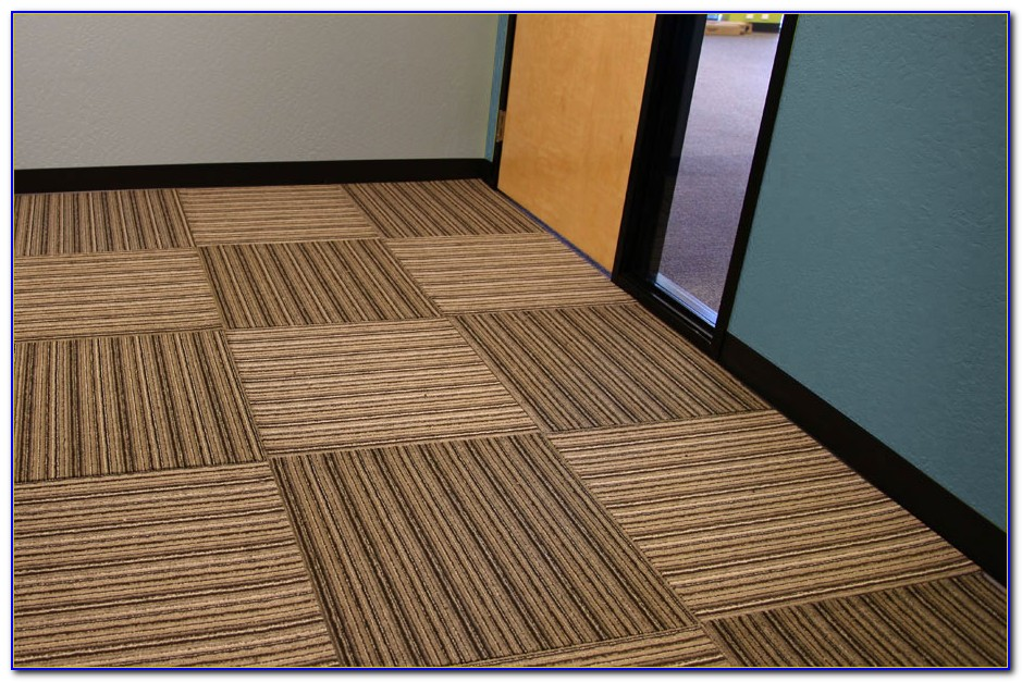 Rubber Backed Carpet Tiles Basement