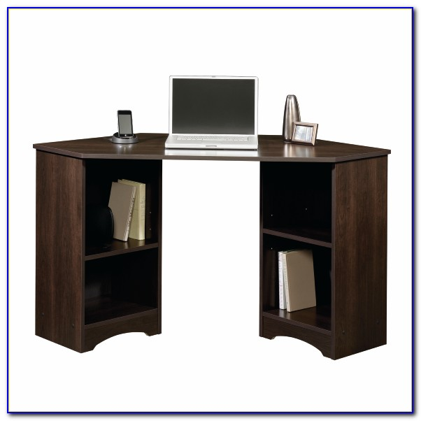 Sauder Beginnings Computer Desk In Highland Oak Finish